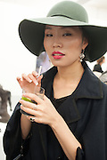 JAEHAE LEE, Frieze week Drinks Party at the opening of the exhibition Island at the Dairy arts Centre, 7a Wakefield Street, Bloomsbury, London. 18 October 2013.