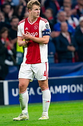 08-05-2019 NED: Semi Final Champions League AFC Ajax - Tottenham Hotspur, Amsterdam<br /> After a dramatic ending, Ajax has not been able to reach the final of the Champions League. In the final second Tottenham Hotspur scored 3-2 / Matthijs de Ligt #4 of Ajax