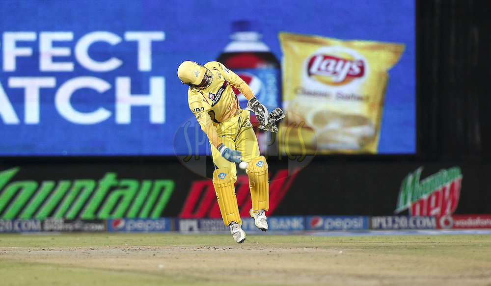 MS Dhoni captain of The Chennai Superkings in action during match 26 of the Pepsi Indian Premier League Season 2014 between the Delhi Daredevils and the Chennai Superkings held at the Ferozeshah Kotla cricket stadium, Delhi, India on the 5th May  2014<br /> <br /> Photo by Deepak Malik / IPL / SPORTZPICS<br /> <br /> <br /> <br /> Image use subject to terms and conditions which can be found here:  http://sportzpics.photoshelter.com/gallery/Pepsi-IPL-Image-terms-and-conditions/G00004VW1IVJ.gB0/C0000TScjhBM6ikg