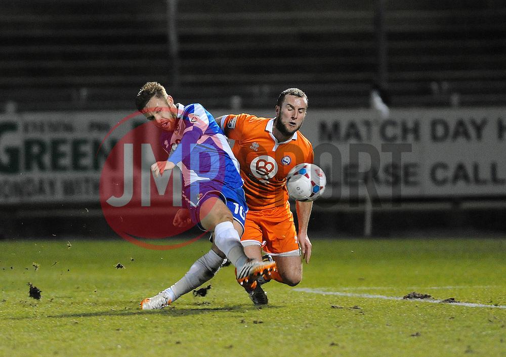 Bristol Rovers' Matty Taylor is fouled for the penalty by Braintree Town's Matt Paine - Photo mandatory by-line: Neil Brookman/JMP - Mobile: 07966 386802 - 24/02/2015 - SPORT - Football - Bristol - Memorial Stadium - Bristol Rovers v Braintree - Vanarama Football Conference