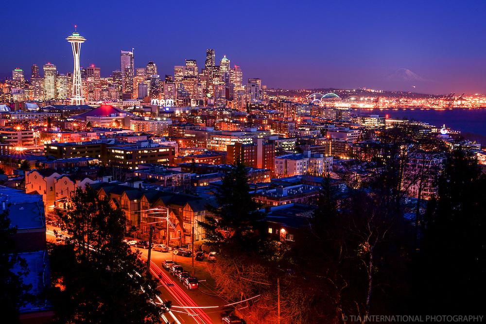 Seattle & Rainier @ Sunset