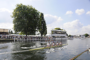 Henley, Great Britain.  Henley Royal Regatta. M4X, Sir William Borlase's Grammar School [Berks], lead Malvern Preparatory School 'A', USA' [Bucks], as they pass Stewards' Enclosure, in the morning Heat, of the Fawley Challenge Cup. River Thames Henley Reach.  Royal Regatta. River Thames Henley Reach.  Saturday  02/07/2011  [Mandatory Credit  Intersport Images] . HRR