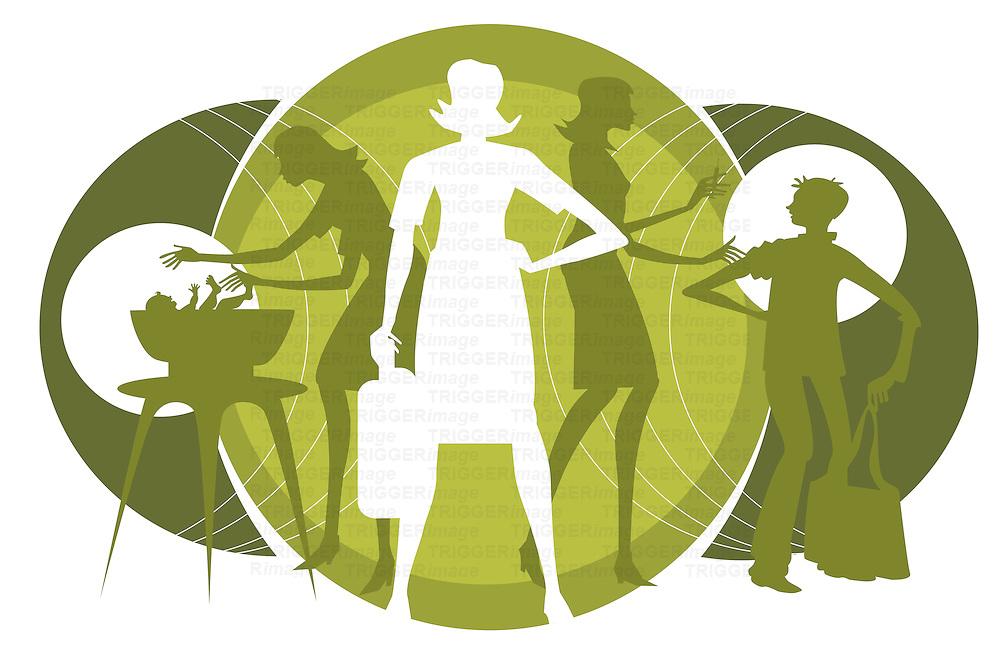 Concept of nurses helping the general public