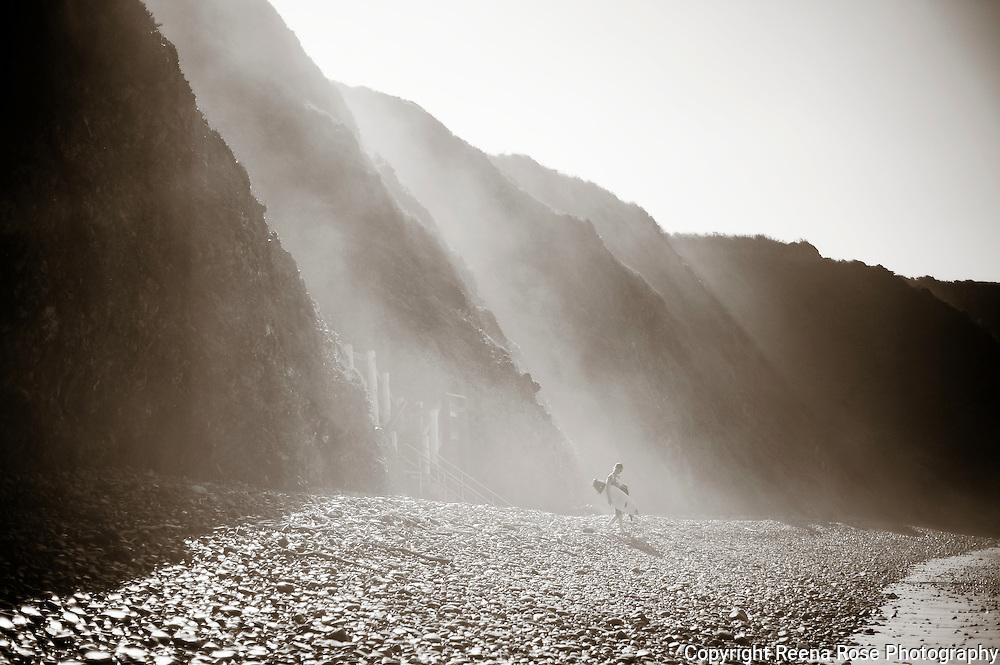 Surfer, Sand Dollar Beach, Big Sur, California