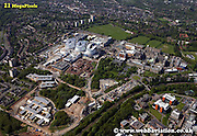 aerial photograph of the Queen Elizabeth Hospital Birmingham England UK