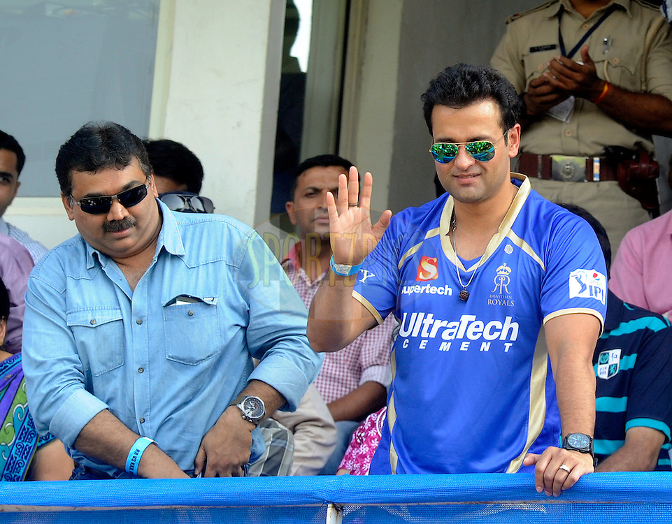 Actor Rohit Roy during match 25 of the Pepsi Indian Premier League Season 2014 between the Rajasthan Royals and the Kolkata Knight Riders held at the Sardar Patel Stadium, Ahmedabad, India on the 5th May  2014<br /> <br /> Photo by Sandeep Shetty / IPL / SPORTZPICS      <br /> <br /> <br /> <br /> Image use subject to terms and conditions which can be found here:  http://sportzpics.photoshelter.com/gallery/Pepsi-IPL-Image-terms-and-conditions/G00004VW1IVJ.gB0/C0000TScjhBM6ikg