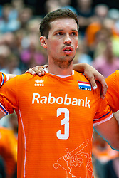 09-08-2019 NED: FIVB Tokyo Volleyball Qualification 2019 / Netherlands, - Korea, Rotterdam<br /> First match pool B in hall Ahoy between Netherlands - Korea (3-2) for one Olympic ticket / Maarten van Garderen #3 of Netherlands