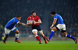 Ben Morgan of England takes on the Samoa defence - Photo mandatory by-line: Patrick Khachfe/JMP - Mobile: 07966 386802 22/11/2014 - SPORT - RUGBY UNION - London - Twickenham Stadium - England v Samoa - QBE Internationals