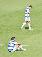 Football - 2019 / 2020 Sky Bet (EFL) Championship - Queens Park Rangers vs. Sheffield Wednesday<br /> <br /> Queens Park Rangers' Yoann Barbet and Luke Amos dejected at the final whistle after their 3-0 defeat, at Kiyan Prince Foundation Stadium (Loftus Road).<br /> <br /> COLORSPORT/ASHLEY WESTERN