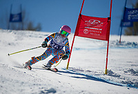 Francis Piche Invitational U14 ladies second run with Gunstock Ski Club.  <br /> ©2017 Karen Bobotas Photographer