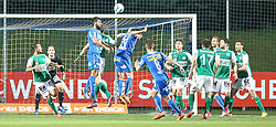 15.05.2015, Sportplatz FAC, Wien, AUT, 2. FBL, Floridsdorfer AC vs SV Mattersburg, 34. Runde, im Bild Christian Haselberger (Floridsorfer AC) , Sascha Viertl (Floridsorfer AC) , Patrick Farkas (SV Mattersburg) // during Austrian Football Second Bundesliga Match, 34th round, between Floridsdorfer AC and SV Mattersburg at the Sportplatz FAC, Vienna, Austria on 2015/05/15. EXPA Pictures © 2015, PhotoCredit: EXPA/ Alexander Forst