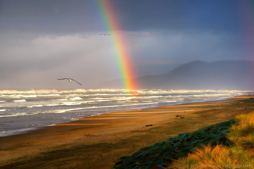 Rainbow @ Rockaway Beach, Oregon