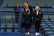 First Minister Nicola Sturgeon (Patron on the Scotland Womens National Team) arrives with Scotland Head Coach Shelley Kerr ahead of the press conference for the Scotland Women's team World Cup Funding Announcement held at Hampden Park, Glasgow, United Kingdom on 26 September 2018.