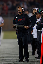 PALO ALTO, CA - NOVEMBER 10: Head coach David Shaw of the Stanford Cardinal on the sidelines against the Oregon State Beavers during the second quarter at Stanford Stadium on November 10, 2018 in Palo Alto, California. (Photo by Jason O. Watson/Getty Images) *** Local Caption *** David Shaw