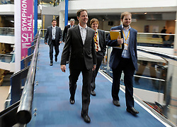 © Licensed to London News Pictures. 17/09/2011. BIRMINGHAM, UK. Nick Clegg on his way to the question and answer session. Deputy Prime Minister Nick Clegg takes part in a question and answer session at the Liberal Democrat Conference at the Birmingham ICC today (19 Sept 2011): Stephen Simpson/LNP . Photo credit : Stephen Simpson/LNP