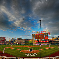 09 August 2013:  A 16 frame HDR image of Nationals Park in Washington, D.C. where the Washington Nationals defeated the Philadelphia Phillies, 9-2.