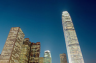 Building right is Two International Finance Centre in the Central District of Hong Kong Island, China. Top ten worlds tallest