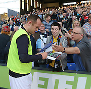 Charlie Adam signs autographs for the Dundee fans- Crystal Palace v Dundee - Julian Speroni testimonial match at Selhurst Park<br /> <br />  - &copy; David Young - www.davidyoungphoto.co.uk - email: davidyoungphoto@gmail.com