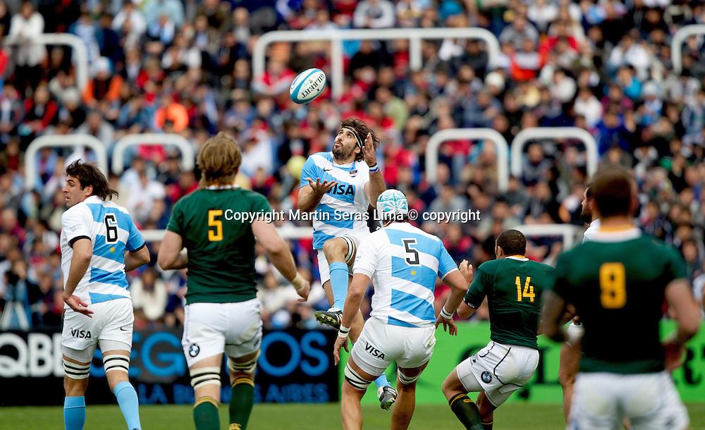 Juan Martin Fernandez Lobbe - Argentina v South Africa at Estadio  Malvinas Argentinas - Mendoza - Argentina - The Rugby Championship 2012 -Photo Martin Seras Lima