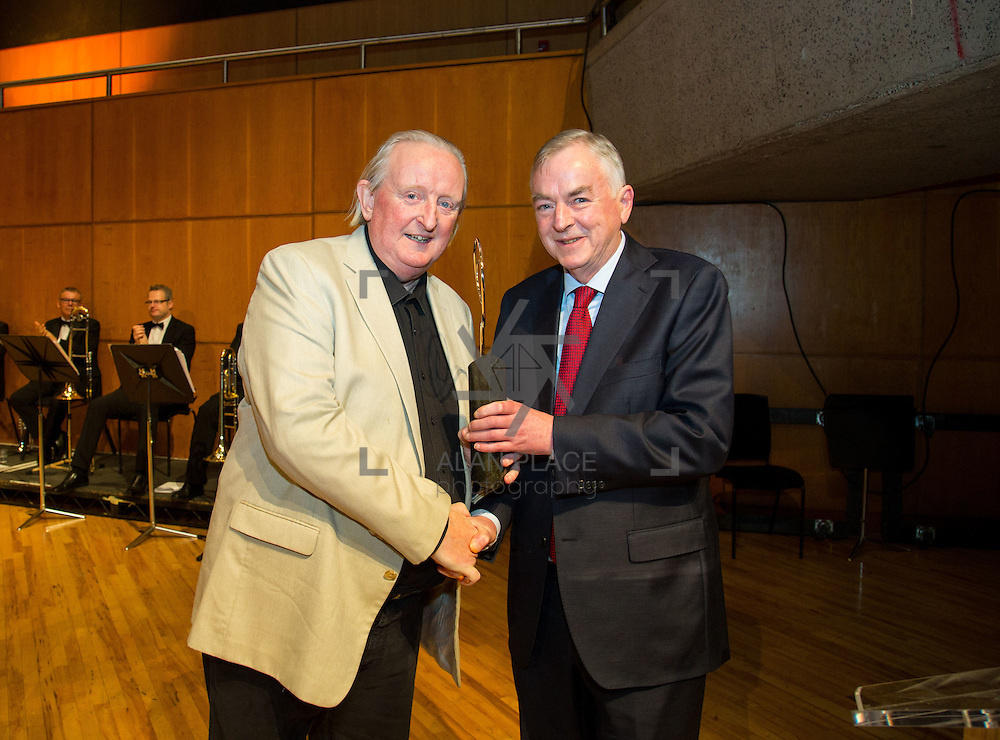 22.11.2016                   <br /> University of Limerick (UL) hosted a gala concert celebrating the music of renowned composer M&iacute;che&aacute;l &Oacute; S&uacute;illeabh&aacute;in.<br /> <br /> Professor Don Barry, President, UL made a special presentation to M&iacute;che&aacute;l &Oacute; S&uacute;illeabh&aacute;in during the concert.<br /> <br /> The RT&Eacute; Concert Orchestra, conducted by David Brophy, performed with M&iacute;che&aacute;l and a selection of special guests in University Concert Hall Limerick. Picture: Alan Place