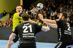 Zarko Pejovic of RK Gorenje Velenje during handball match between RK Gorenje Velenje and Kadetten Schaffhausen in VELUX EHF Champions League, on November 25, 2017 in Rdeca Dvorana, Velenje, Slovenia. Photo by Ziga Zupan / Sportida