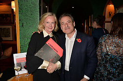 Jane Procter and Tom Goldstaub attend CATWALKING, PHOTOGRAPHS BY CHRIS MOORE party hosted by The British Fashion Council & Laurence King Publishing at Annabel's, Mayfair, London England. 6 November 2017.