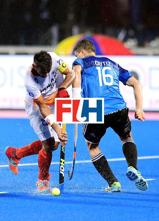 Odisha Men's Hockey World League Final Bhubaneswar 2017<br /> Match id:19<br /> India v Argentina<br /> Foto: Manpreet Singh (Ind) and Ignacio Ortiz (Arg) <br /> COPYRIGHT WORLDSPORTPICS FRANK UIJLENBROEK