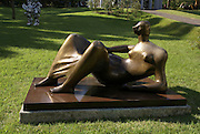 Japan, Honshu Island, Kanagawa Prefecture, Fuji Hakone National Park, Hakone Open-Air Museum. Reclining Figure: Arch Leg by Henry Moore
