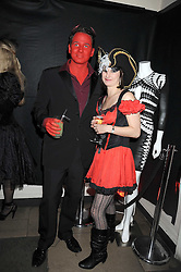 EMILY MANNING and KEVIN MULLANEY at a Halloween party hosted by Alexa Chung and Browns Focus held at the House of St.Barnabas, 1 Greek Street, London on 31st October 2008.