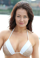 Jess Impiazzi, Ex On The Beach Allstars - Photocall, River Thames Beach London UK, 01 August 2016, Photo by Brett D. Cove