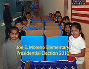 Moreno Elementary students participated in a mock presidential election. <br />
