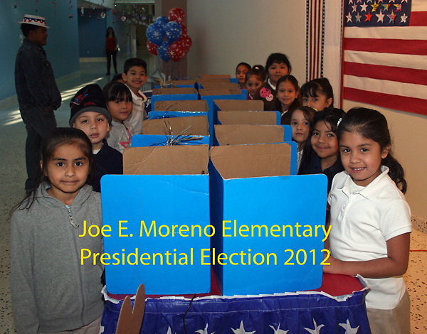 Moreno Elementary students participated in a mock presidential election. <br /> To submit photos for inclusion in eNews, send them to hisdphotos@yahoo.com.