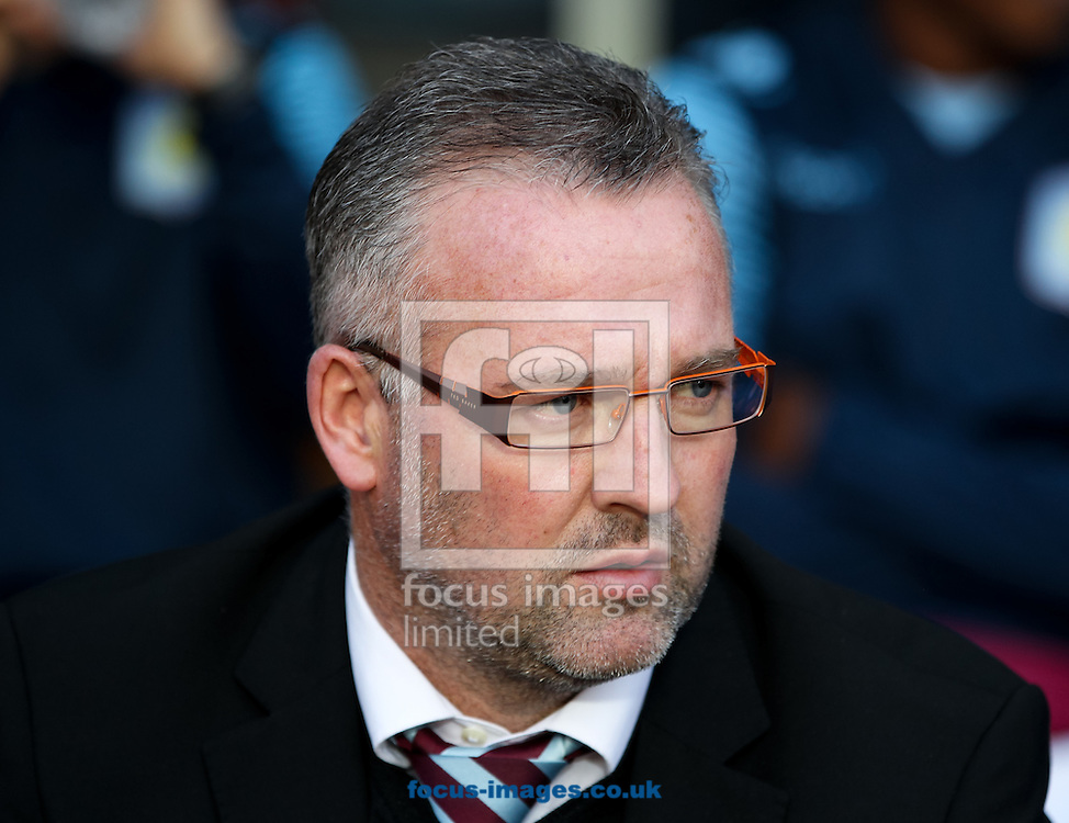 Aston Villa manager Paul Lambert before the Barclays Premier League match at Villa Park, Birmingham<br /> Picture by Tom Smith/Focus Images Ltd 07545141164<br /> 04/10/2014
