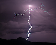 Cloud-to-ground lightning over  Redondito Peak in the Valles Caldera National Preserve, © 2014 David A. Ponton