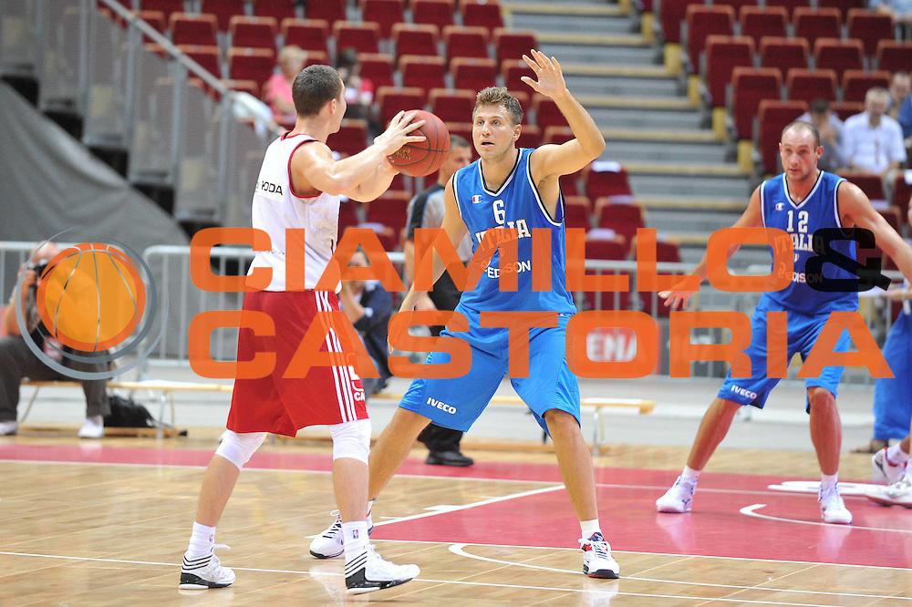 DESCRIZIONE : DANZICA POLONIA TORNEO INTERNAZIONALE SOPOT BASKET CUP Lettonia Italia<br /> GIOCATORE : stefano mancinelli<br /> CATEGORIA : difesa<br /> SQUADRA : Nazionale Italia Maschile<br /> EVENTO : TORNEO INTERNAZIONALE SOPOT BASKET CUP<br /> GARA : Lettonia Italia<br /> DATA : 03/08/2012<br /> SPORT : Pallacanestro<br /> AUTORE : Agenzia Ciamillo-Castoria/M.Gregolin<br /> Galleria : FIP Nazionali 2012<br /> Fotonotizia :  DANZICA POLONIA TORNEO INTERNAZIONALE SOPOT BASKET CUP Lettonia Italia<br /> Predefinita :