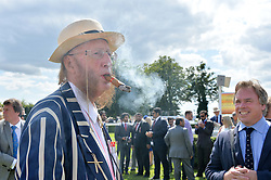 JOHN McCRIRICK at the Qatar Goodwood Festival - Ladies Day held at Goodwood Racecourse, West Sussex on 30th July 2015.