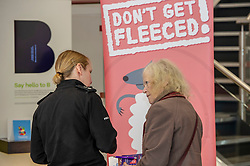 Pictured: Inspector Phillipa Boyd chats to a customerr about the new campaign<br />