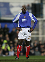 Photo: Lee Earle.<br /> Portsmouth v Manchester City. The Barclays Premiership. 10/02/2007. Sol Campbell of Portsmouth.