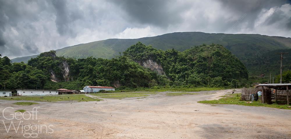 Former Air America parking ramp at Long Cheng (Long Tieng)