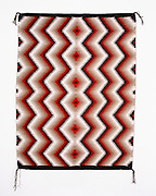 "0108-1020 ~ Copyright: George H. H. Huey ~ Navajo Indian rug. Eyedazzler. 30"" x 39"".  Hubbell Trading Post National Historic Site, Arizona."