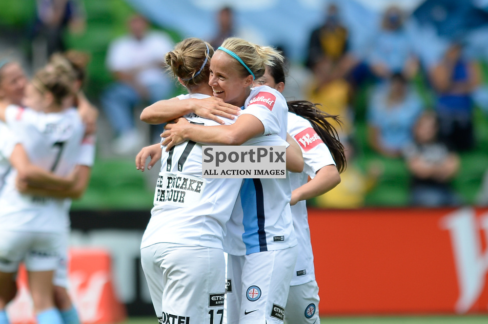 City celebrate at the end of the Westfield W-League 2015/16 Grand Final. Melbourne City FC Women v Sydney FC Women at Aami Park on January 31st 2016 - © Mark Avellino | SportPix.org.uk Victory to Melbourne City 4:1