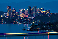 Bellevue Skyline & Lake Washington (Evening)