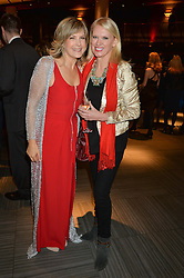 Left to right, PENNY SMITH and ANNEKA RICE  at the 2014 Costa Book of The Year Awards held at Quaglino's, Bury Street, London on 27th January 2015.  The winner of the Book of The Year was Helen Macdonald for her book H is for Hawk.