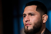 DALLAS, TX - MAY 10:  Jorge Masvidal speaks to the media during the UFC 211 Ultimate Media Day at the House of Blues Dallas on May 10, 2017 in Dallas, Texas. (Photo by Cooper Neill/Zuffa LLC/Zuffa LLC via Getty Images) *** Local Caption *** Jorge Masvidal
