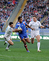 Rome, Italy -Fall realized and try during Italia vs Francia race of the championship rugby SIX NATIONS played at the Olimpico in Rome.(Credit Image: © Gilberto Carbonari/).