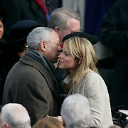 Presidential Inauguration 2005- GEORGE W. BUSH.Washington, DC.01/20/2005.West Front - US Capitol.Secretary of State Colin Powell and Jenna Bush..Photo by Khue Bui..