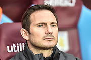 Derby County manager Frank Lampard during the EFL Sky Bet Championship match between Aston Villa and Derby County at Villa Park, Birmingham, England on 2 March 2019.