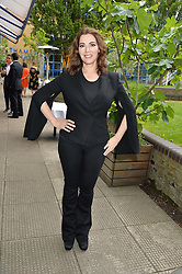 NIGELLA LAWSON at an Evening at The River Cafe in aid of the NSPCC held at The River Cafe, Thames Wharf, Rainville Road, London on 19th June 2016