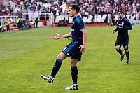 RaReal Madrid's Lucas Vazquez celebrating a goal during La Liga match. April 23,2016. (ALTERPHOTOS/Borja B.Hojas)