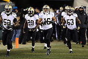 New Orleans Saints wide receiver Lance Moore (16) runs out of the tunnel during player introductions during the NFL NFC Wild Card football game against the Philadelphia Eagles on Saturday, Jan. 4, 2014 in Philadelphia. The Saints won the game 26-24. ©Paul Anthony Spinelli